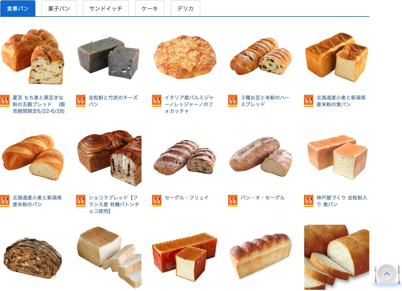 神戸屋キッチン メニュー